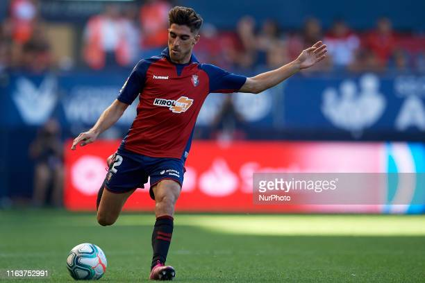 Nacho Vidal of Osasuna in action during the Liga match between CA Osasuna and SD Eibar at El Sadar Stadium on August 24 2019 in Pamplona Spain