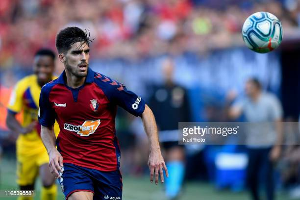 Nacho Vidal of Osasuna in action during the Liga match between CA Osasuna and FC Barcelona at on August 31 2019 in Pamplona Spain