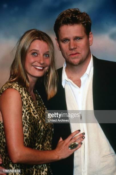 Nachtshow, Late-Night-Talkshow, Deutschland 1994 - 1995, Sendung vom 4. Oktober 1995, Gaststar: Schauspielerin Jessika Cardinahl und amerikanischer...