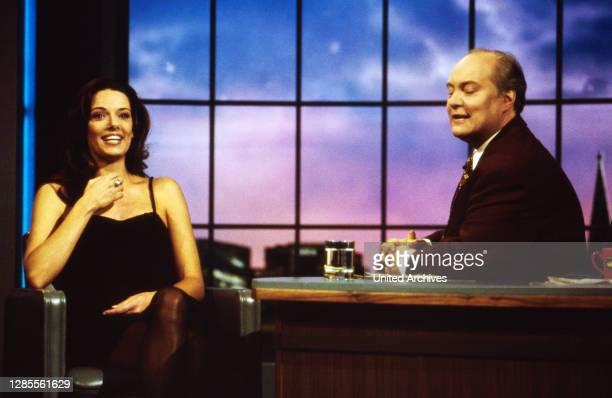 Nachtshow, Late-Night-Talkshow, Deutschland 1994 - 1995, Sendung vom 4. Oktober 1995, Gaststar Constanze Engelbrecht und Thomas Koschwitz.
