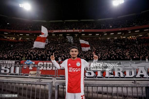 Naci Unuvar of Ajax celebrates the victory during the Dutch KNVB Beker match between Ajax v Spakenburg at the Johan Cruijff Arena on January 22, 2020...