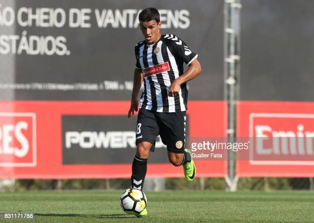Nacional midfielder Jota Garces in action during the Segunda Liga match between SL Benfica B and CD Nacional at Caixa Futebol Campus on August 13...