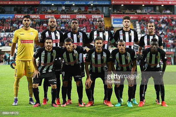 Nacional's Line Up during Premier League 2016/17 match between CD Nacional and SL Benfica at Choupana Stadium in Funchal on August 27 2016