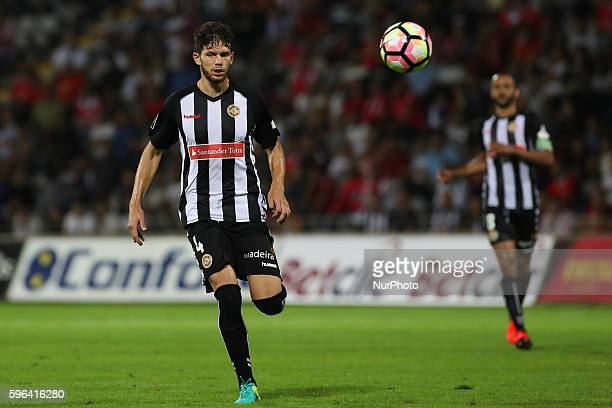 Nacional's Portuguese defender Tobias Figueiredo in action during Premier League 2016/17 match between CD Nacional and SL Benfica at Choupana Stadium...
