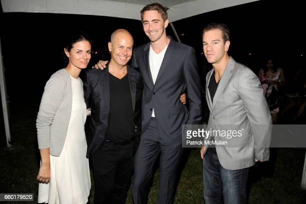 Nacole Snoep Italo Zucchelli Lee Pace and Josh Reed attend ACRIA's Annual 'Cocktails at Sunset' Presented by Calvin Klein Collection Vanity Fair at...