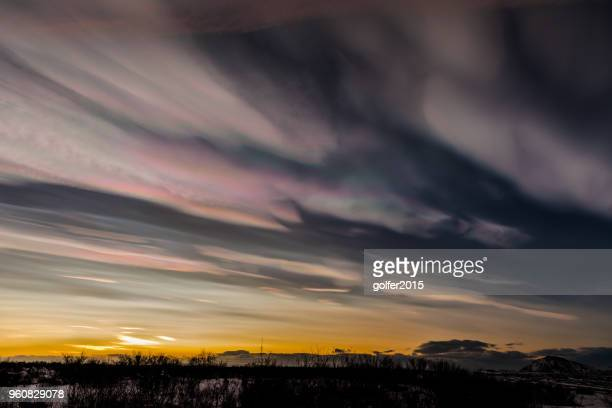 Nacreous Clouds (Mother of Pearl) - North Iceland