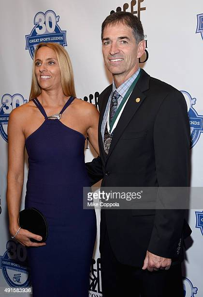 Nada Stepovich and former NBA player John Stockton attend the 30th Annual Great Sports Legends Dinner to benefit The Buoniconti Fund to Cure...