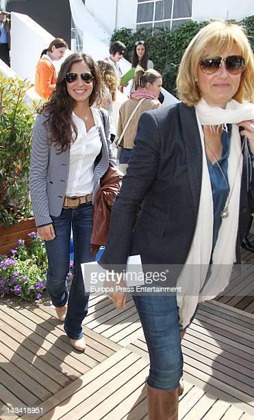 Nadal's girlfriend Xisca Perello and mother Ana Maria Parera attend Barcelona Open Banc Sabadell60º Trofeo Conde de Godo Tournament on April 25 2012...