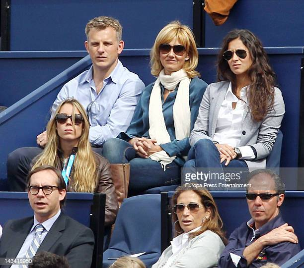 Nadal's girlfriend Xisca Perello , sister Isabel Nadal and mother Ana Maria Parera attend Barcelona Open Banc Sabadell-60º Trofeo Conde de Godo...