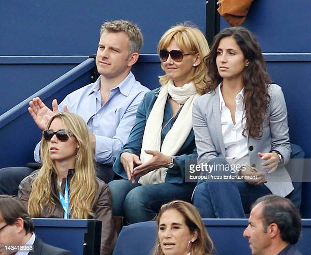 Nadal's girlfriend Xisca Perello sister Isabel Nadal and mother Ana Maria Parera attend Barcelona Open Banc Sabadell60º Trofeo Conde de Godo...