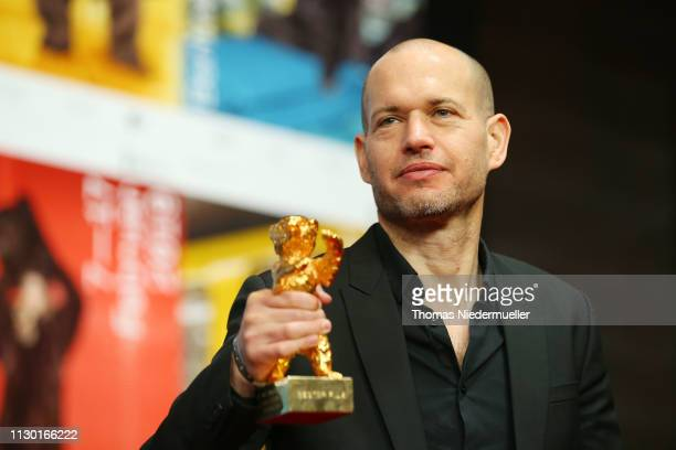 Nadav Lapid winner of the Golden Bear for Best Film for Synonymes attends the award winners press conference during the 69th Berlinale International...