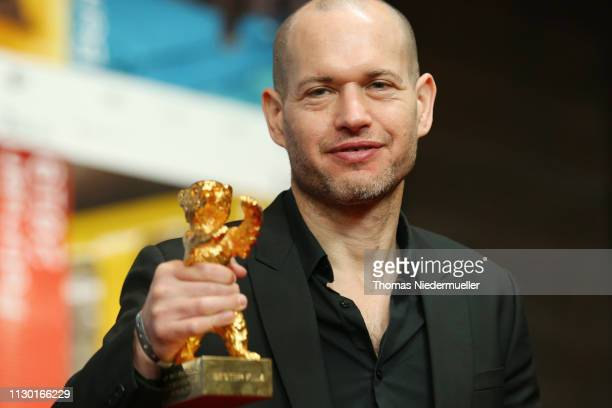 "Nadav Lapid, winner of the Golden Bear for Best Film for ""Synonymes"", attends the award winners press conference during the 69th Berlinale..."