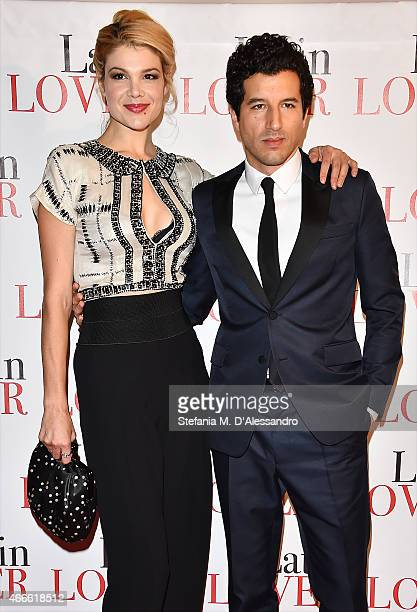 Nadeah Miranda and Francesco Scianna attend 'Latin Lover' Screening on March 17 2015 in Milan Italy