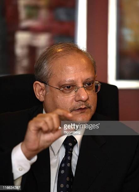 Nadeem Naqvi managing director of the Karachi Stock Exchange speaks during an interview in Karachi Pakistan on Thursday June 16 2011 Karachi Stock...