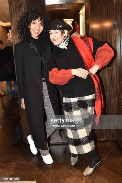 Nadeesha Godamunne and Tziporah Salamon attend the launch of NORELL Master of American Fashion by Jeffrey Banks and Doria de La Chapelle hosted by...