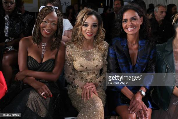 Nadege Beausson Diagne Louisy Joseph and Laurence Roustandjee attend the Christophe Guillarme show as part of the Paris Fashion Week Womenswear...