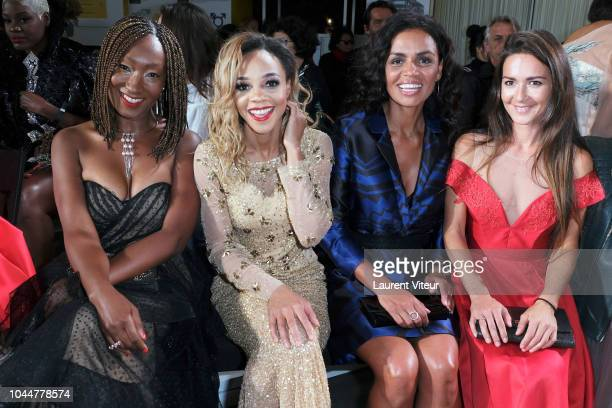 Nadege Beausson Diagne Louisy Joseph Laurence Roustandjee and Emmanuelle Boidron attend the Christophe Guillarme show as part of the Paris Fashion...