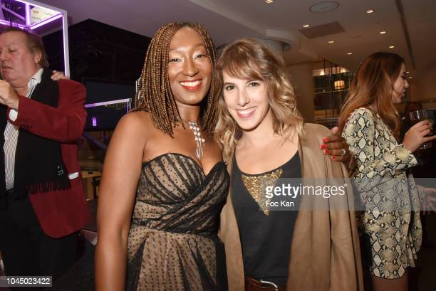 Nadege BeaussonDiagne and Lea Franoist attend the Christophe Guillarme show as part of the Paris Fashion Week Womenswear Spring/Summer 2019 on...