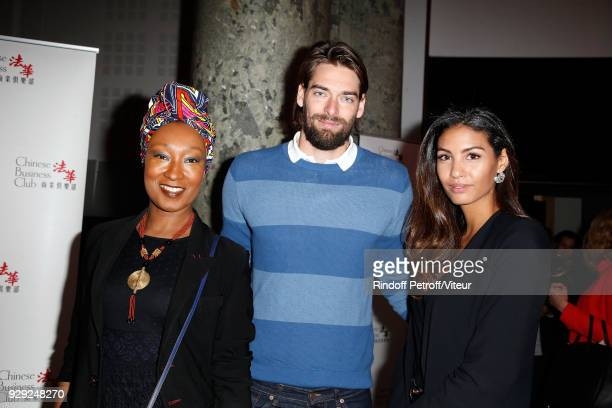 Nadege BeaussonDiagne Camille Lacourt and Chloe Mortaud attends 'Woman of the Year Prize' by Chinese Business Club at Pavillon Potel Chabot on March...