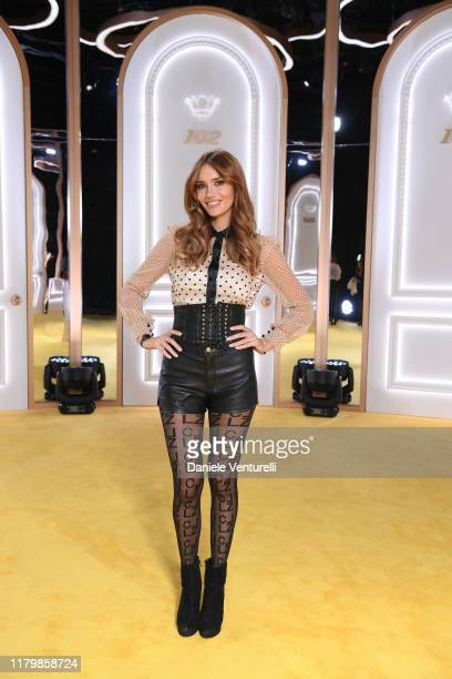Nadege Dabrowski attends the Calzedonia Leg Show 2019 on October 08 2019 in Verona Italy
