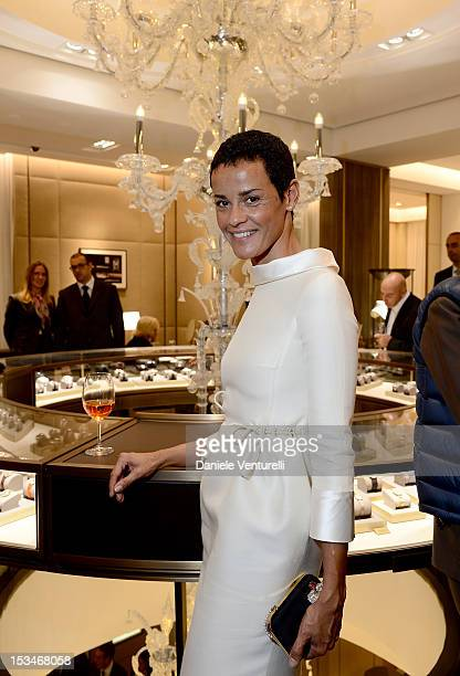 Nadege du Bospertus attends the Cartier Boutique reopening cocktail party on October 5 2012 in Milan Italy