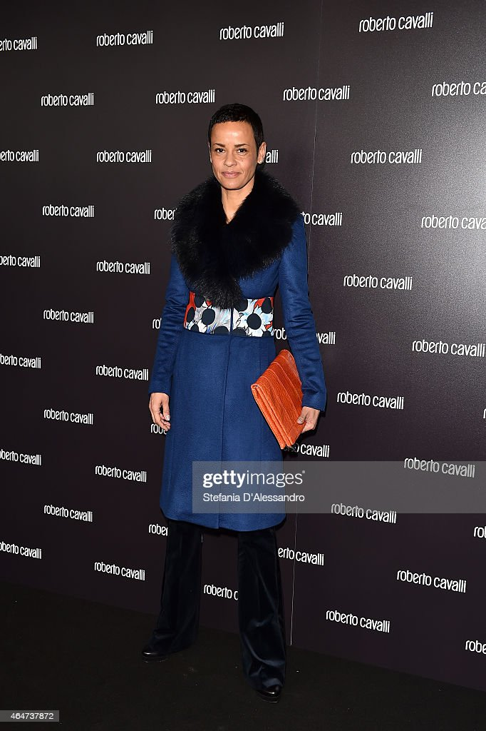 Nadege Dubospertus attends the Roberto Cavalli show during the Milan Fashion Week Autumn/Winter 2015 on February 28, 2015 in Milan, Italy.