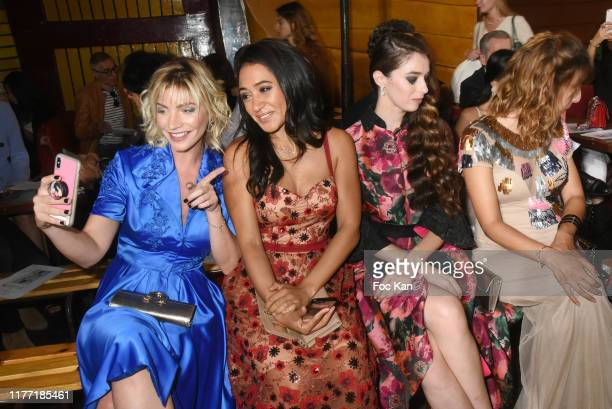 Nadege Lacroix, Josephine Jobert, and Sarah Barzyk attend the Christophe Guillarme Womenswear Spring/Summer 2020 show as part of Paris Fashion Week...