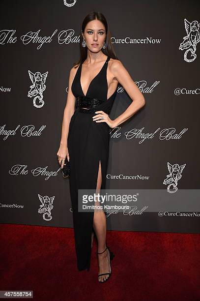 Nadejda Savcova attends Angel Ball 2014 hosted by Gabrielle's Angel Foundation at Cipriani Wall Street on October 20 2014 in New York City