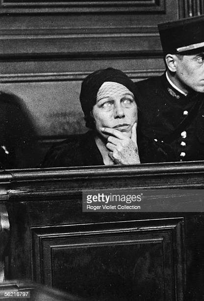 Nadejda Vinikova known as the Plevitskaia russian singer wife of General Skobline sentenced to hard labour for twenty years for her involvement in...