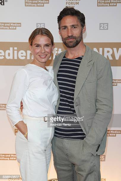 Nadeshda Brennicke and Benjamin Sadler attend the Film und Medienstiftung NRW summer party on June 8 2016 in Cologne Germany