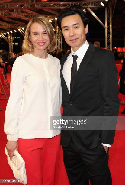 """Nadeshda Brennicke and Ngo The Chau attends the """"Stereo"""" premiere during the 64th Berlinale International Film Festival at the Zoo Palast on February..."""