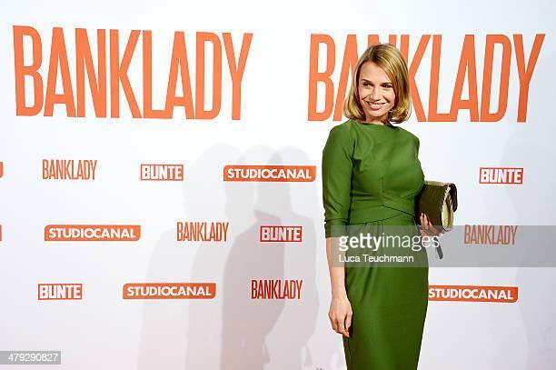 Nadeshda Brennicke attends 'Banklady' Premiere at Kino International on March 17, 2014 in Berlin, Germany.