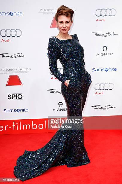 Nadeshda Brennicke attends the German Film Ball 2015 on January 17, 2015 in Munich, Germany.