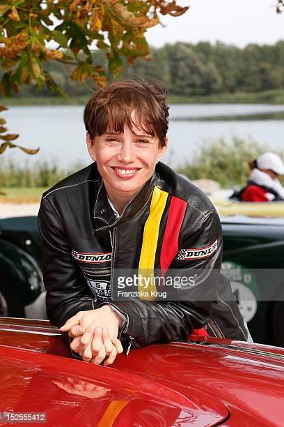 Nadeshda Brennicke attends the Hamburg-Berlin Klassik Rallye 2012 on September 21, 2012 in Ulrichshusen, Germany.