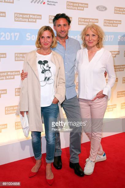 Nadeshda Brennicke Benjamin Sadler and Maren Kroymann attend Industry Meeting Of The 'Film and Media Fundation North RhineWestphalia' at Wolkenburg...
