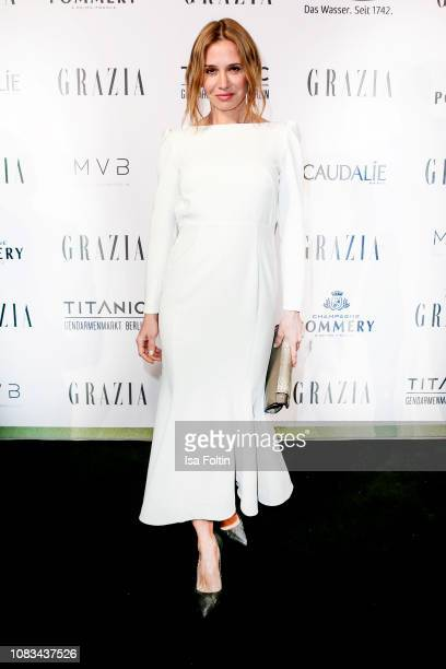 Nadeshda Brennicke during the Grazia Fashion Dinner 2019 at Titanic Hotel on January 16, 2019 in Berlin, Germany.