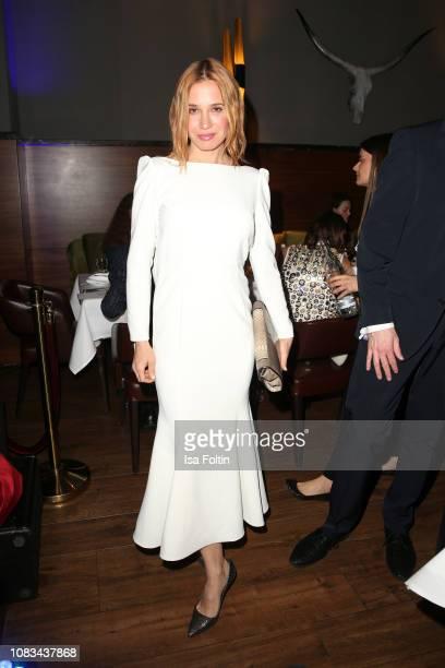 Nadeshda Brennicke during the Grazia Fashion Dinner 2019 at Titanic Hotel on January 16, 2019 in Berlin, Germany.
