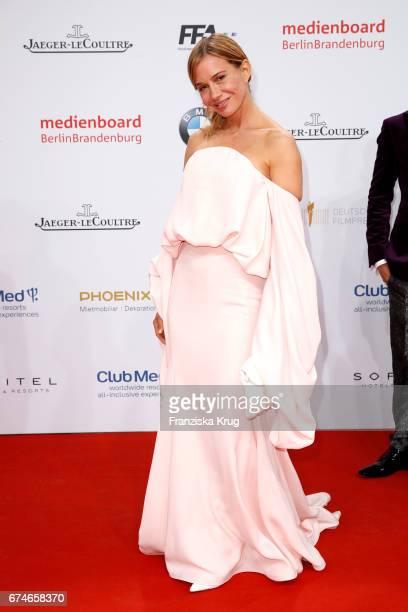Nadeshda Brennicke during the Lola German Film Award red carpet arrivals at Messe Berlin on April 28 2017 in Berlin Germany
