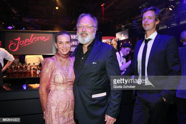 Nadeshda Brennicke, Georg Seitz and Florian Stelljes during the 'Tribute To Bambi' gala at Station on October 5, 2017 in Berlin, Germany.