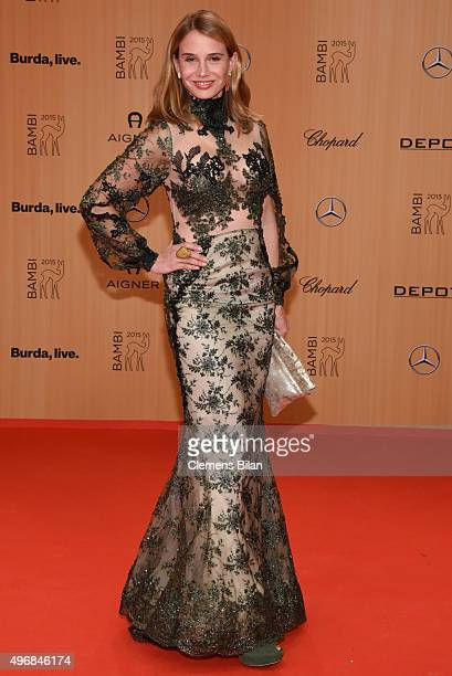 Nadeshda Brennicke wearing a dress by Atelier Lena Mueller attends the Bambi Awards 2015 at Stage Theater on November 12 2015 in Berlin Germany