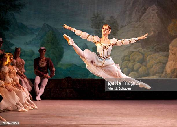 Nadezhda Batoeva, a friend of the prince, performs in 'Swan Lake' by the Mariinsky Ballet with the Mariinsky Orchestra at the Segerstrom Center for...