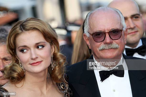 Nadezhda Mihalkova and Nikita Mikhalkov attend the 'The Exodus Burnt By The Sun 2' Premiere held at the Palais des Festivals during the 63rd Annual...