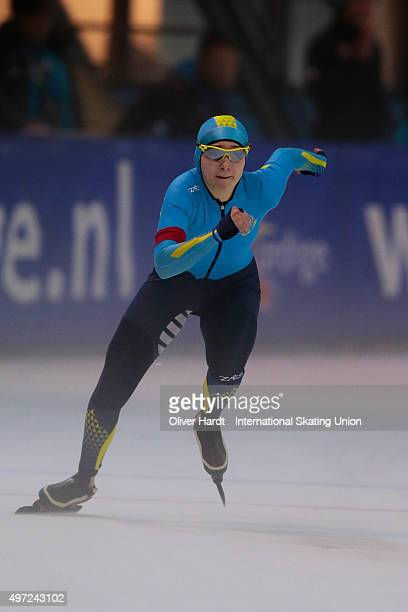 Nadezhda Sidelnik of Kazakhstan competes in the ladies 500m race during day 2 of the ISU Junior World Cup Speed Skating Groningen on November 15 2015...
