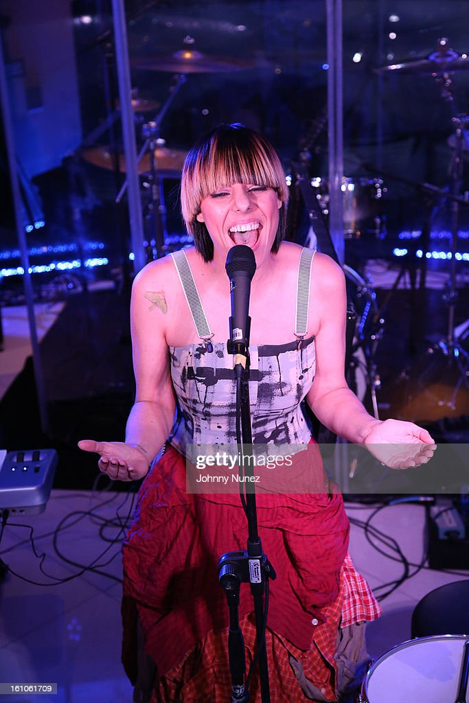 Nadia Ackerman performs at the Femdouble Producers Choice Honorees Gala at Bel Air Ship Mansion on February 8, 2013 in Belair, California.