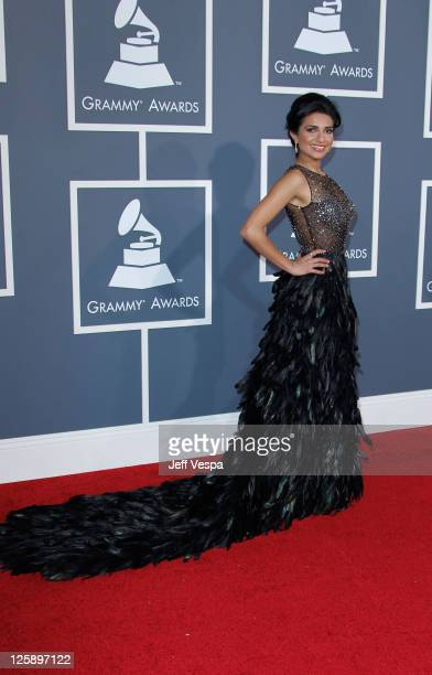 Nadia Ali arrives at The 53rd Annual GRAMMY Awards held at Staples Center on February 13 2011 in Los Angeles California
