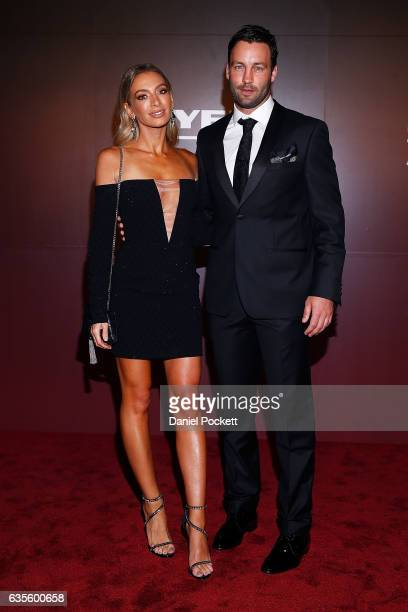 Nadia and Jimmy Bartel arrive ahead of the Myer Autumn 2017 Fashion Launch on February 16, 2017 in Melbourne, Australia.