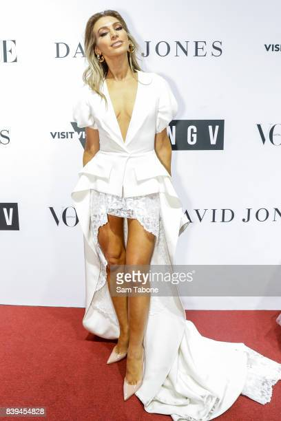 Nadia Bartel arrives ahead of the NGV Gala at NGV International on August 26 2017 in Melbourne Australia