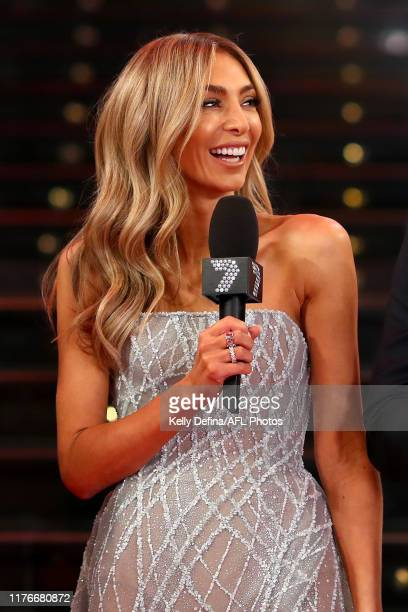 Nadia Bartel is seen ahead of the 2019 Brownlow Medal at Crown Palladium on September 23 2019 in Melbourne Australia