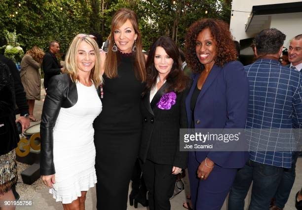 Nadia Comaneci, Allison Janney, Lisa Vanderpump and Jackie Joyner-Kersee attend GOLD MEETS GOLDEN: The 5th Anniversary Refreshed by Coca-Cola, Globes...