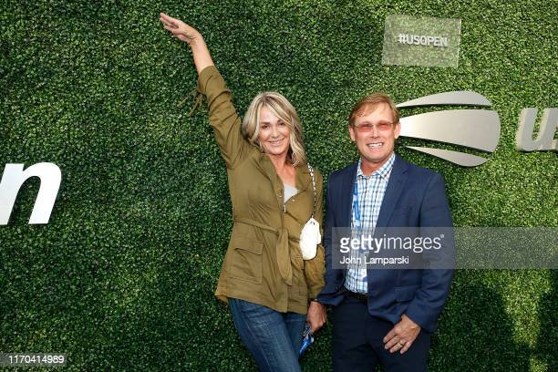 Nadia Comaneci and Bart Conner attend USTA 19th Annual Opening Night Gala Blue Carpet at USTA Billie Jean King National Tennis Center on August 26,...